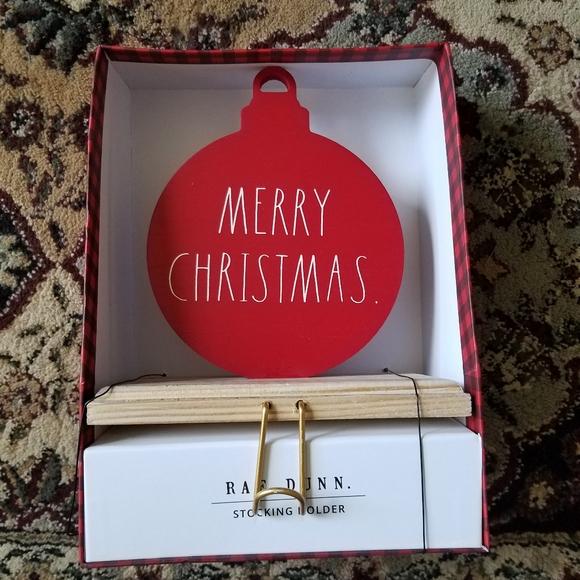 Nwt Rae Dunn Merry Christmas Stocking Holder